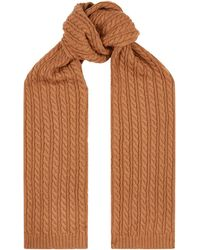 Eton of Sweden - Cable Knit Wool Scarf - Lyst