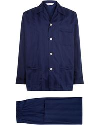 Derek Rose | Lingfield Satin Stripe Pyjama Set | Lyst