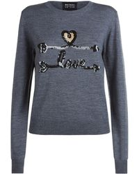 Markus Lupfer - Grace Sequin Embellished Sweater - Lyst