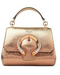 Jimmy Choo Metallic Python Madeline Top Handle Bag - Multicolour