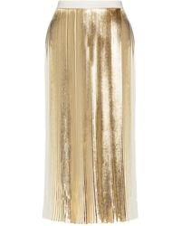 Valentino Pleated Midi Skirt - Multicolour