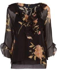 Polo Ralph Lauren - Floral Silk Blouse - Lyst