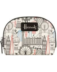 Harrods Balloons And Bicycles Cosmetic Bag - Multicolour