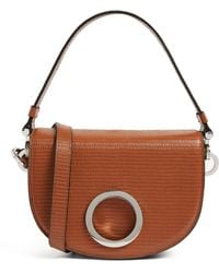 MAX&Co. Leather Crescent Bag - Brown