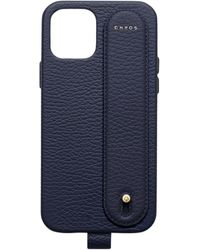 Chaos Leather Hand Hug Iphone 12 Pro Case - Blue