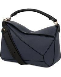Loewe Leather Puzzle Bag - Blue