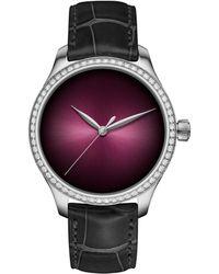 H. Moser & Cie Stainless Steel Endeavour Centre Seconds Diamonds Watch 38mm - Multicolour