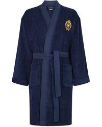 Ralph Lauren Cleffstone Bath Robe - Blue
