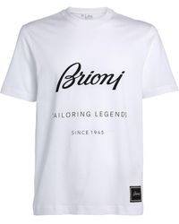 Brioni Cotton Logo T-shirt - White