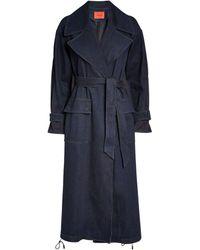 MAX&Co. Denim Trench Coat - Blue