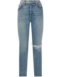 GRLFRND Karolina Ripped Knee Jeans - Black
