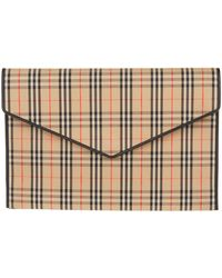 Burberry - Large Envelope Clutch - Lyst