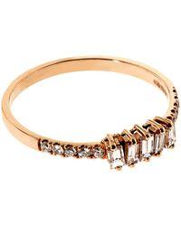 Suzanne Kalan - Baguette White Diamond Ring - Lyst