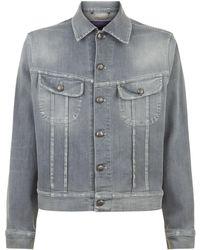 Ralph Lauren Purple Label - Denim Jacket - Lyst