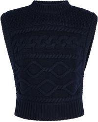 Gestuz Lupia Cable-knit Vest - Blue