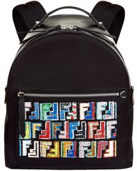 Fendi - Logo Embellished Backpack - Lyst