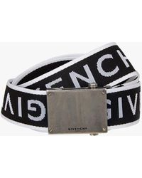 Givenchy 4g Logo Print Belt - Black