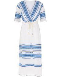 lemlem Welela Stripe Kaftan Dress - Blue