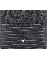 Montblanc - Leather Embossed Card Holder - Lyst