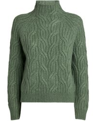Vince Twisted-chain Sweater - Green
