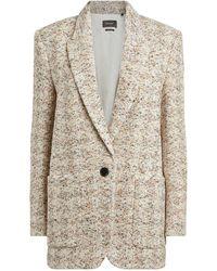 Isabel Marant Kindan Tweed Blazer Jacket - Multicolour