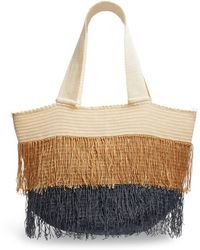Sophie Anderson Jonas Fringed Tri-tone Tote Bag - Multicolor