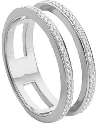 Monica Vinader - Skinny Double Band Diamond Ring - Lyst