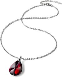 Baccarat Sterling Silver And Crystal Fleurs De Psydélic Necklace - Red