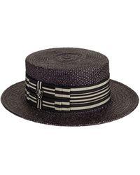 Philip Treacy - Straw Boater Hat - Lyst