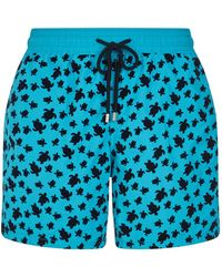 Vilebrequin - Moorea Turtle Flocked Swim Shorts - Lyst