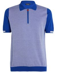 Kiton Contrast-knit Polo Shirt - Blue