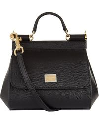 Dolce & Gabbana Micro Sicily Top Handle Bag - Black