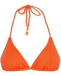 Lazul Rope Detail Bikini Top - Orange