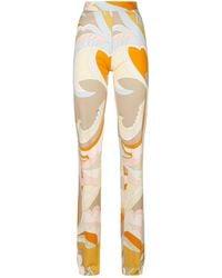 Emilio Pucci Patterned Trousers - Orange
