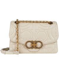Ferragamo - Quilted Leather Shoulder Bag - Lyst