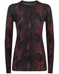 AllSaints - Suki Snake Print Sweater - Lyst