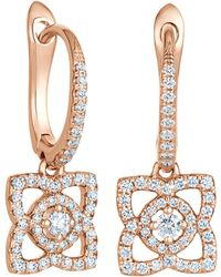 De Beers - Rose Gold Enchanted Lotus Sleeper Earrings - Lyst