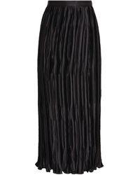 Andrew Gn Silk Pleated Midi Skirt - Black