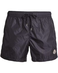 Moncler - Logo-patch Swim Shorts - Lyst