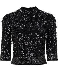 Jenny Packham Angele Embellished Top - Black