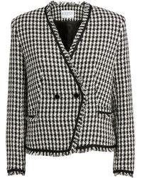 Claudie Pierlot Tweed Houndstooth Jacket - Black