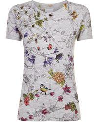 ESCADA | Floral Print T-shirt | Lyst