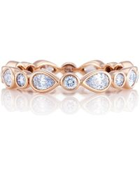 De Beers - Rose Gold And Diamond Petal Ring - Lyst