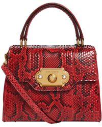 Dolce   Gabbana - Small Python Welcome Top Handle Bag - Lyst 65f955462cecb