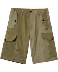 Loewe Military Tent Cargo Shorts - Green