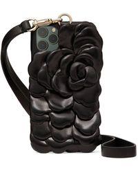 Valentino Garavani Garavani 03 Rose Edition Atelier Iphone 12 Pro Max Case - Black