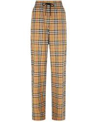 Burberry Haymarket Check Drawstring Pants - Yellow