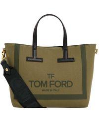 Tom Ford Mini Canvas Tote Bag - Green