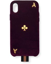 Chaos - Velvet Ace Playing Card Iphone X Case - Lyst