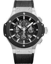 Hublot Big Bang Aero Bang 44mm Steel Ceramic Chronograph Watch - Metallic